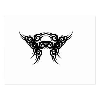 Diseño del tatuaje tarjeta postal