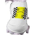 Diseño del taxi del taxi del inspector ropa de perro