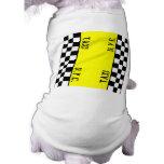 Diseño del taxi del taxi del inspector prenda mascota
