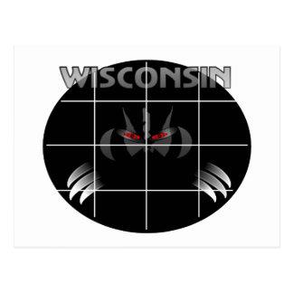 Diseño del tejón del estado de Wisconsin Postal