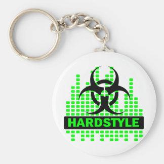 Diseño del tempo de Hardstyle Llavero