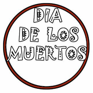 Diseño del texto de DIA DE LOS MUERTOS Fotoescultura Vertical