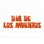 Diseño del texto de DIA DE LOS MUERTOS Postal