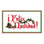 Diseño del texto de Feliz Navidad con los conos de Tarjeta De Visita