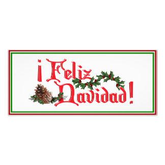 Diseño del texto de Feliz Navidad con los conos de Tarjeta Publicitaria