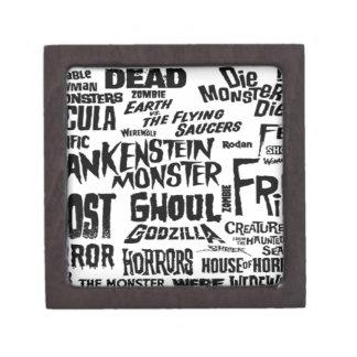 Diseño del texto de Halloween Caja De Regalo De Calidad