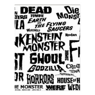 Diseño del texto de Halloween Postales