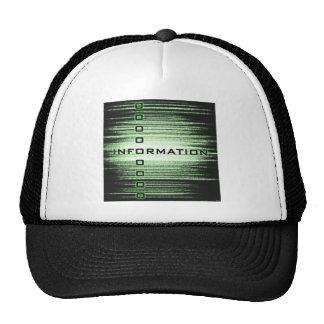 Diseño del texto de información gorros bordados