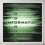 Diseño del texto de información impresiones