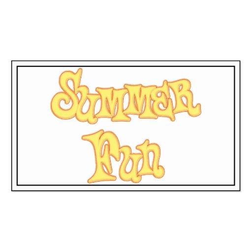 Diseño del texto de la diversión del verano