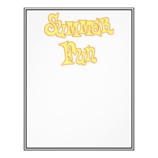 Diseño del texto de la diversión del verano plantillas de membrete