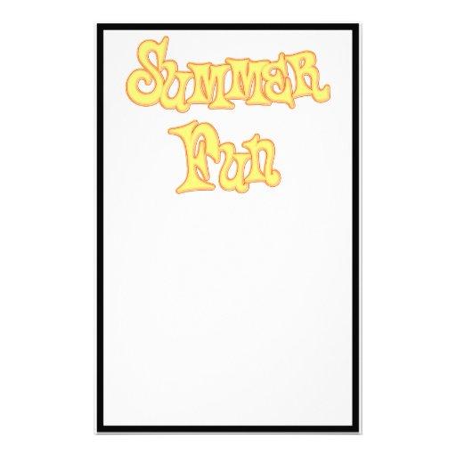 Diseño del texto de la diversión del verano papeleria personalizada