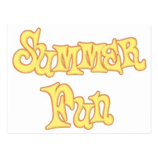Diseño del texto de la diversión del verano postal