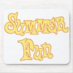 Diseño del texto de la diversión del verano alfombrillas de raton
