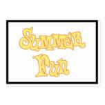 Diseño del texto de la diversión del verano plantillas de tarjetas de visita