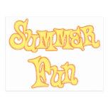 Diseño del texto de la diversión del verano tarjetas postales
