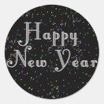 Diseño del texto de la Feliz Año Nuevo Pegatinas