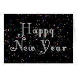 Diseño del texto de la Feliz Año Nuevo Felicitación