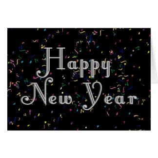 Diseño del texto de la Feliz Año Nuevo Tarjeta De Felicitación