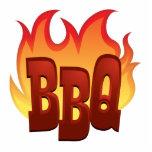 diseño del texto de la llama del Bbq Escultura Fotografica