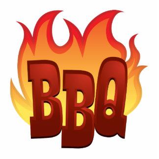 diseño del texto de la llama del Bbq Fotoescultura Vertical