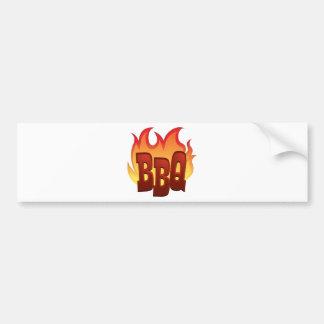 diseño del texto de la llama del Bbq Pegatina Para Auto
