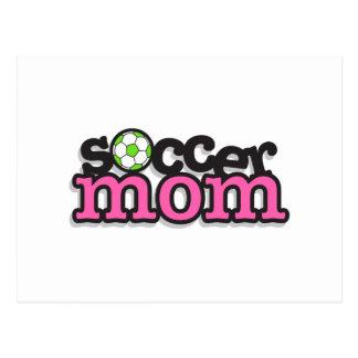 diseño del texto de la mamá del fútbol postales