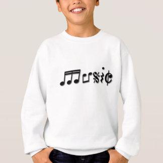 Diseño del texto de la música sudadera