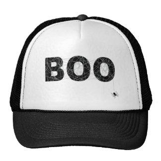 Diseño del texto del abucheo para Halloween Gorros