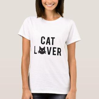 Diseño del texto del amante del gato con la cara playera