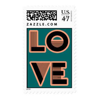 Diseño del texto del AMOR, estilo del art déco Timbres Postales