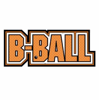 diseño del texto del baloncesto del b-ball esculturas fotográficas