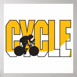 diseño del texto del ciclo poster