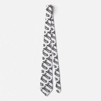 Diseño del texto: Negro de los DEPORTES + su Corbata Personalizada