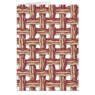 Diseño del tocino de la tela escocesa tarjeta de felicitación