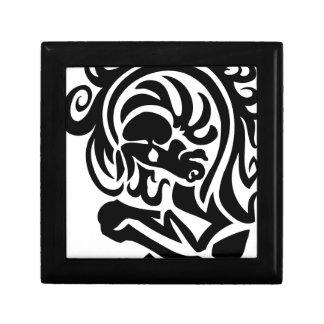 Diseño del torso del caballo caja de recuerdo