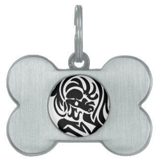 Diseño del torso del caballo placa de nombre de mascota