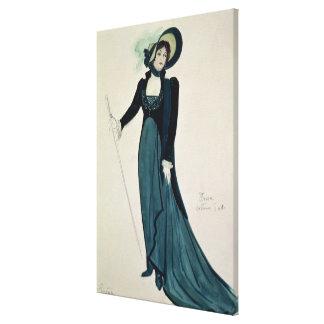 Diseño del traje para Tosca Lienzo Envuelto Para Galerias
