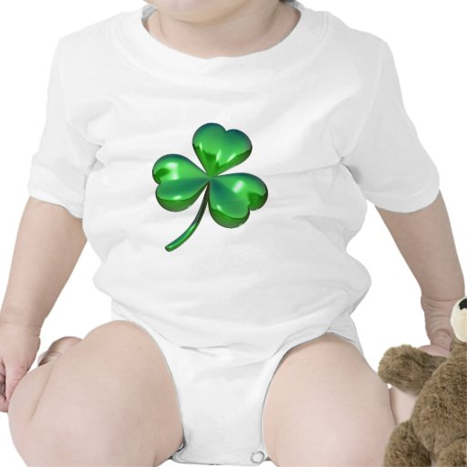 diseño del trébol 3d traje de bebé