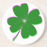 Diseño del trébol del día 4-Leaf del St. Patricks  Posavasos Manualidades