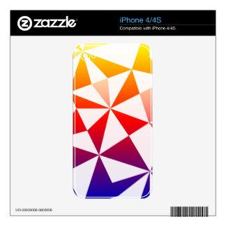 Diseño del triángulo del arco iris skins para iPhone 4