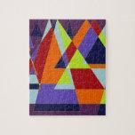 Diseño del triángulo rompecabeza con fotos