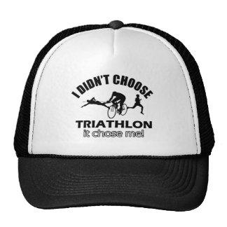 diseño del triathlon gorros