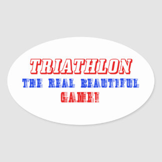 diseño del triathlon pegatina de ovaladas
