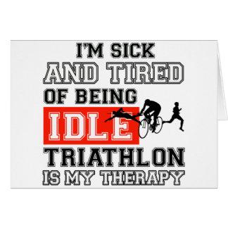 diseño del triathlon tarjeta de felicitación