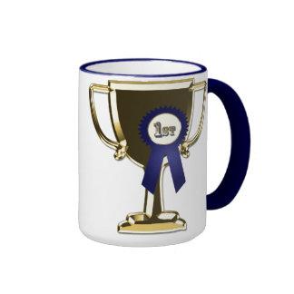 Diseño del trofeo del primer premio taza de dos colores