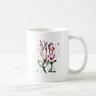 Diseño del tulipán taza clásica