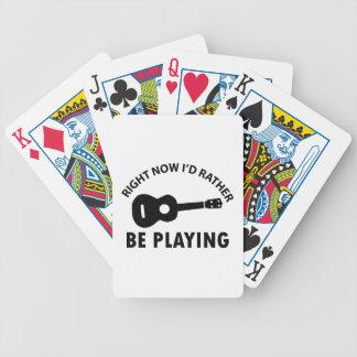 diseño del ukulele cartas de juego