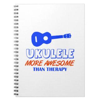 Diseño del Ukulele Spiral Notebook