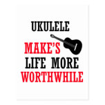 diseño del ukulele postales